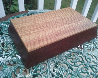 Jewelry Box, Cigar Humidor; Eucolyptus and Redwood burl