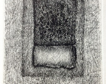 Etching Surface print in black ink. Abstract art print