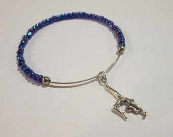 Team Gymnastics! beaded bangle bracelet - Choose your team color