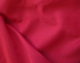 "Jersey Fabric 1 1/4 Yd Remnant Red Soft Polyester 62"" Wide Soft Clothing Garments Comfortable"