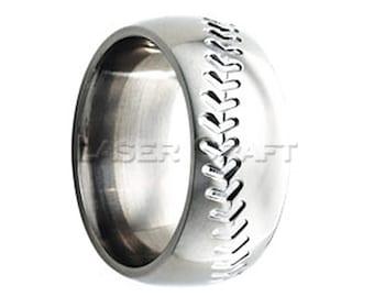 Cobalt Wedding Band Cobalt Wedding Ring Baseball Design Baseball Ring