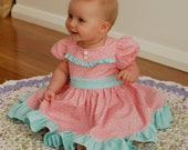 SALE...Buy 2 get 1 Free.....Betty Lou Girl's Vintage Style Ruffled Bodice Dress, Instant Download PDF Sewing Pattern, 3-6m to 10
