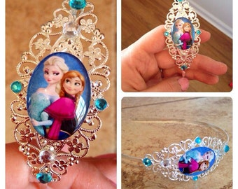 Frozen inspired gift set (headband and necklace)