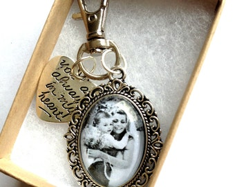 Custom Photo Keyring, Personalised photo key chain, Personalized custom keyring with your own photo, Photo Keyring Gift, Photo Charm