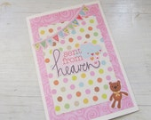 Baby Girl Card, Sent From Heaven Polka Dot Card