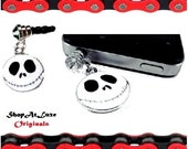 Jack Skellington - From Nightmare Before Christmas Charm With 3.5mm Dust Plug -Fits Headphone Opening