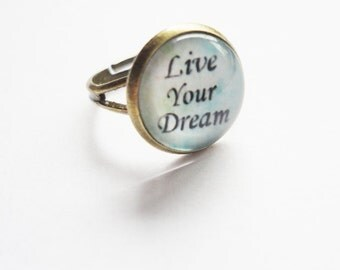 Ring Live your Dream adjustable