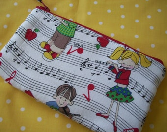Music Zipper Pouch, Children's Musical Zipper Wallet