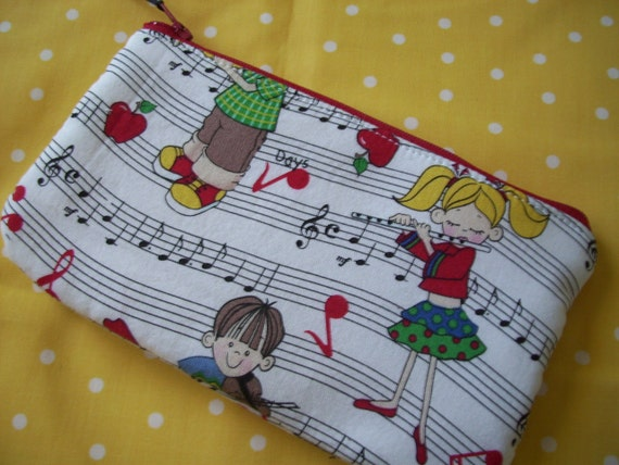 Music Zipper Pouch, Children's Musical Zipper Wallet