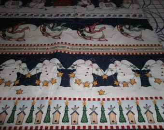 Christmas Print Fabric - 18 inches