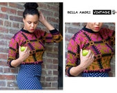 90s Vintage Fitted Colorful Sweater, Matt Johnson