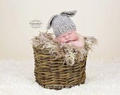 Baby bunny rabbit hat unisex girl boy - oatmeal grey -3 6 9 months - hand knitted - Easter photo prop shoot - wool mix baby shower gift