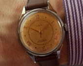 RESERVED FOR CUSTOMER Lovely 1950s Laco 17 Jewel German watch. Professionally serviced