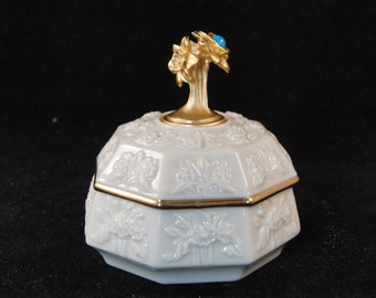 White and gold Lenox jewelry box