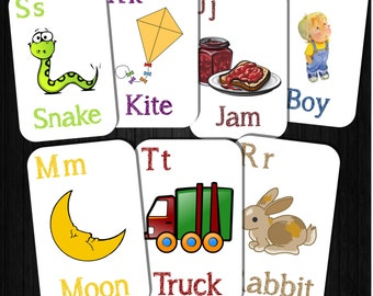 Download Alphabet Picture Flashcards