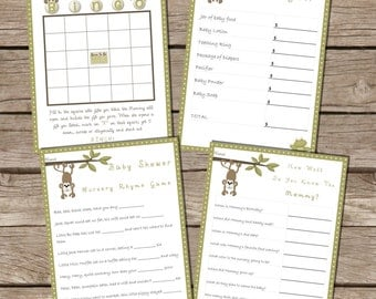 Download Baby Shower Game Set of 4