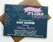 Baby It's Cold Outside - Winter Baby Shower invitation  - Boy / Girl - PRINTABLE FILE