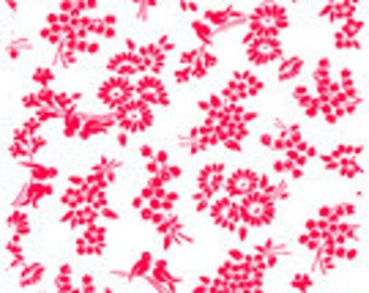 Pam Kitty Morning's Cherry Red by Lakehouse Dry Goods, Pam Kitty Coordinates, Quilting Fabric