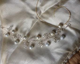 Bridal hair vine tiara headdress
