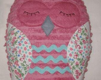 Chenille Owl Stuffed Toy