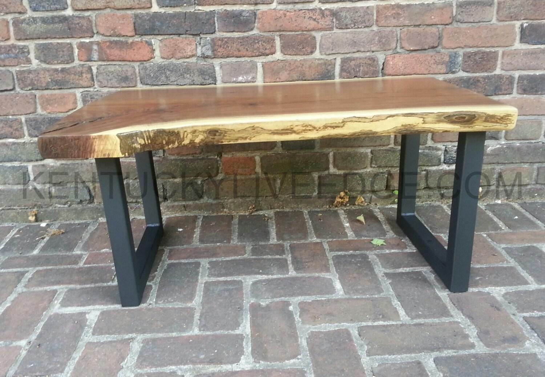 ... SALE Live Edge Coffee Table, Walnut Bench, Industrial Coffee Table,  Modern Coffee Table. 🔎zoom - SALE Live Edge Coffee Table Walnut Bench Industrial Coffee