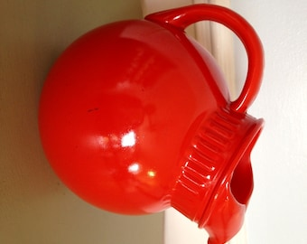 Orange Ball Pitcher - Anchor Hocking Ball Pitcher - Tilted Ball Pitcher