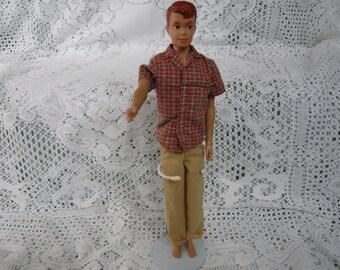 Original  1960 Mattel ALLEN Doll   Ken and Barbie's Friend Hawthorne California USA