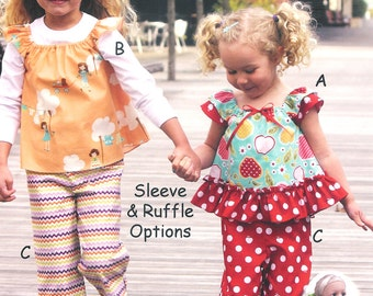 Pattern - Cutie Pie - Top, Capri Pants & Doll outfit Paper Sewing Pattern by Olive Ann Designs (OAD80)