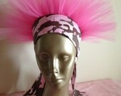 Pink Camo Breast Cancer Awareness Headband TuTu Crown