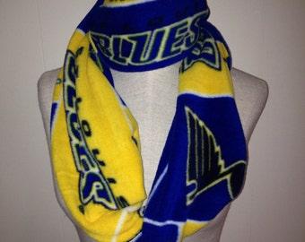St. Louis Blues Hockey Fleece Patchwork Infinity Scarf