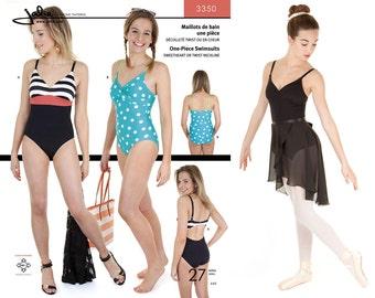 Jalie 1 Piece Swimsuit or Ballet Leotard w/Sweetheart or Twist Neckline Sewing Pattern #3350 Women & Girls