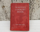 Mrs Beetons Cookery Book Mrs Beetons one shilling cookery book Antique book Collectible vintage recipe book