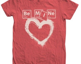 VALENTINE Be Mine T shirt Hand Screen Print American Apparel Available S,M ,L,Xl,2Xl