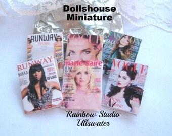 dollhouse fashion magazines x 6  dollhouse 12th scale miniature lakeland artist new