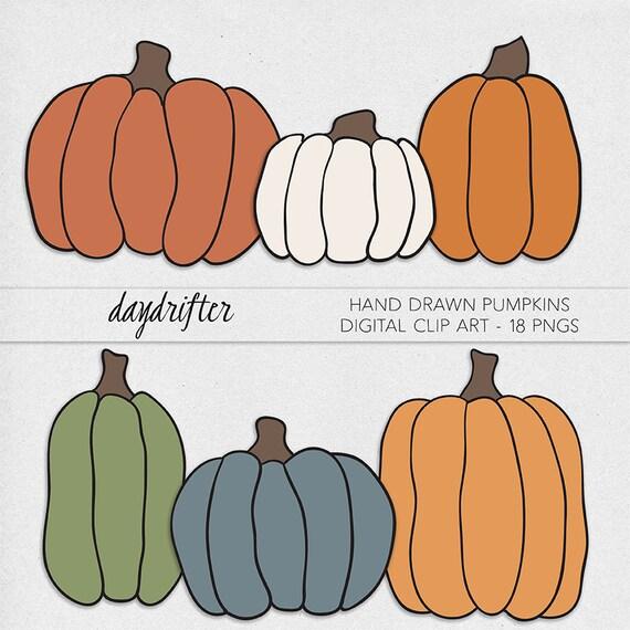 Items similar to INSTANT DOWNLOAD - Pumpkin Clip Art ...