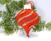 Christmas Τeardrop Ball, Christmas tree decoration, Christmas Ornament, Felt Decoration, Holidays decoration, Christmas gift, Holidays gift