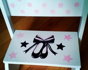 Personalized Ballerina Slippers Stepstool