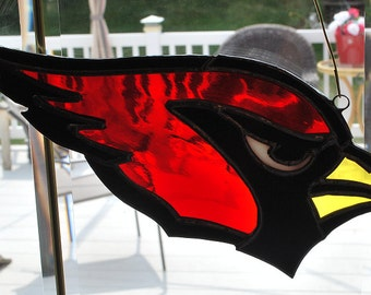 Stained glass  Cardinal suncatcher, wall hanging