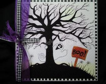 Handmade Halloween Greeting Card or Party Invitation - Cute Boo Ghost - Boo102