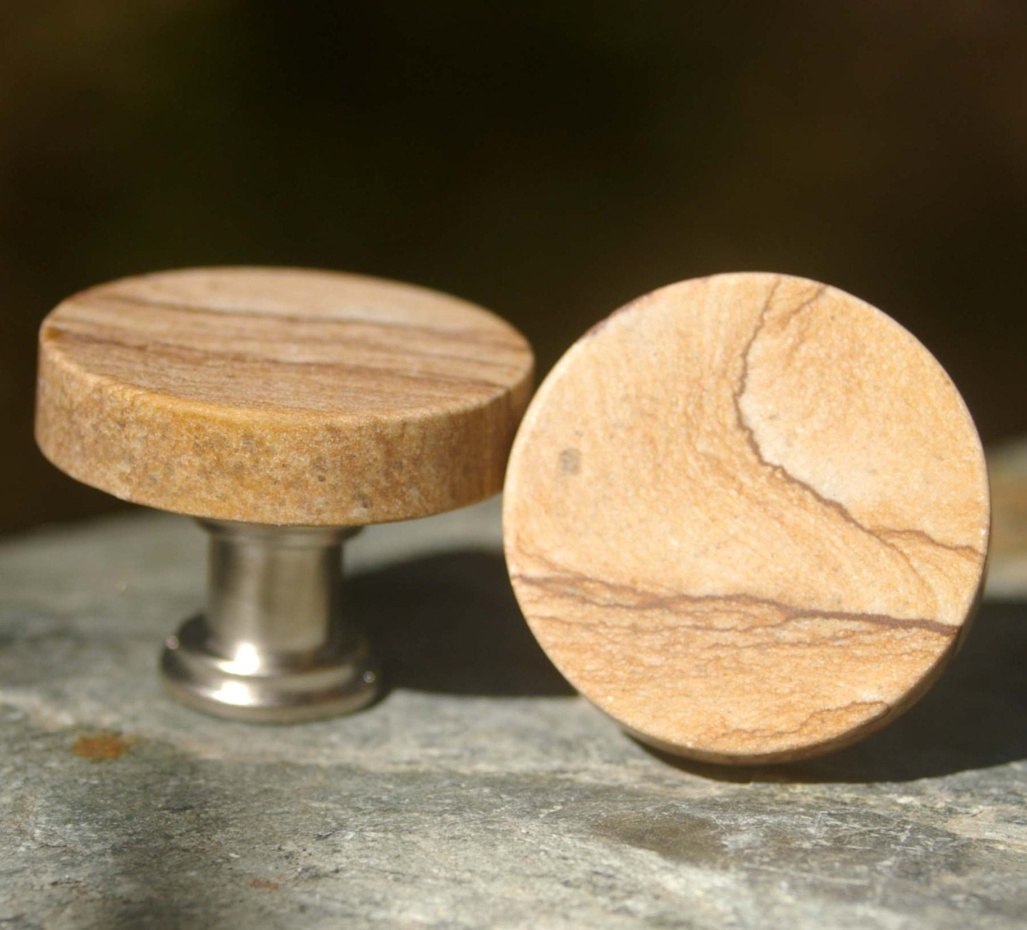 Kitchen Cabinet Upgrade New Knobs Coming Later: Picture Jasper Cabinet Knobs Set Of 2 Stone Cabinet Knobs