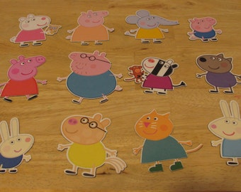 Peppa Pig and Friends Die Cuts Set of 12