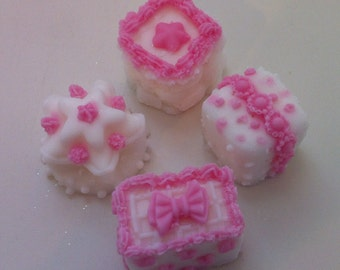 Petite Fours (pink and white)