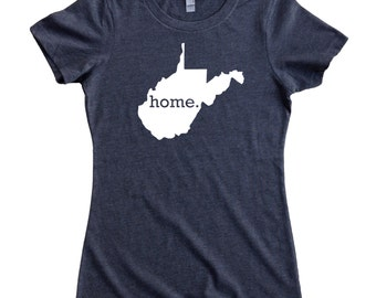 Homeland Tees West Virginia Home State Women's T-Shirt