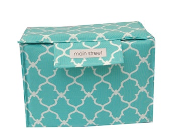 NEW Removable SMALL camera insert with TOP, teal moroccan padded