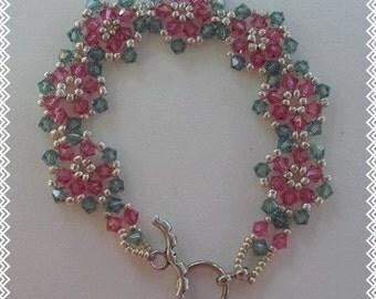 Jennifer Bracelet woven flower design