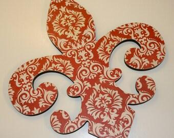Fleur de lis wall decor , Red and cream wall decor, Fleur de lis wall art, Holiday decor, Christmas