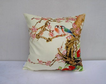 Velvet fabric throw pillow cases cushion covers flower bird pillow cover bird pillow cover bed pillow cover car pillow sofa pillow