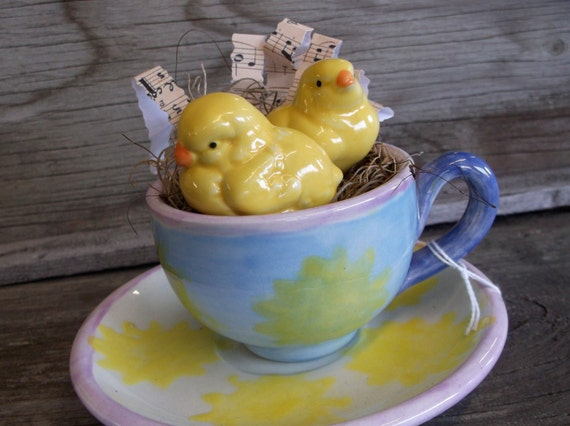 Teacup and Saucer Chicks In A Teacup Sheet by EveryNowAndThen1