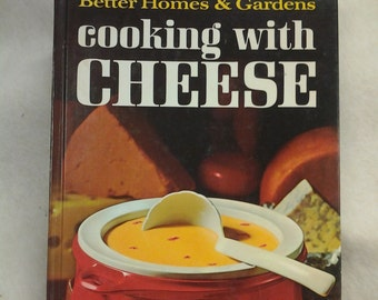 On Sale Retro Kitchen Better Homes and Gardens Cooking with Cheese Cook Book 1966