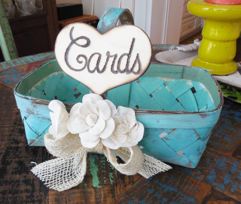 Wedding Card Basket Guest Book alternative Card Basket